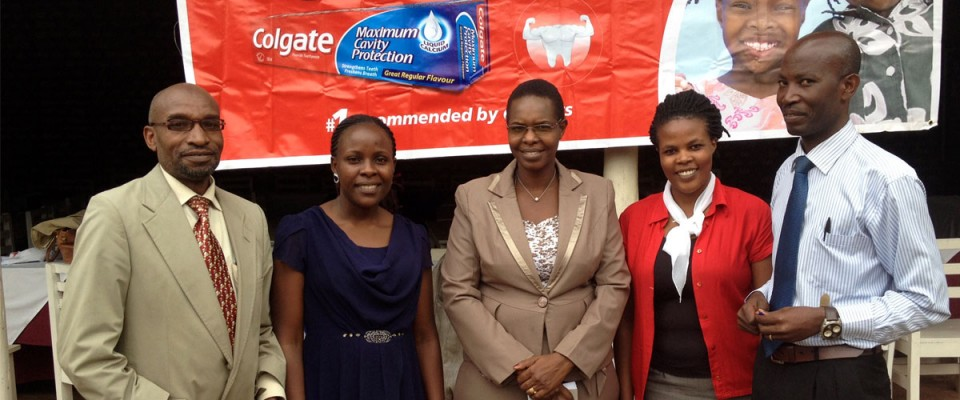 Facilitators at the Oral health seminar at College View Hotel, Bushenyi on 18th June 2015 (standing in the middle is Ms. Rael Okello - Colgate International Representative)