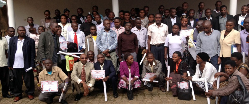 Health workers and VHT coordinators of Bushenyi District after a seminar on knowledge and practices of infant gum mutilation at College View Hotel in Bushenyi District on 18th June 2015