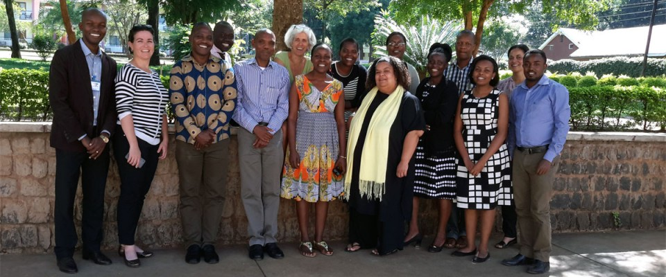 MNCHI Director and Coordinator with participants at the organizational strengthening and capacity building workshop in Moshi, Tanzania (23rd to 25th June 2015)